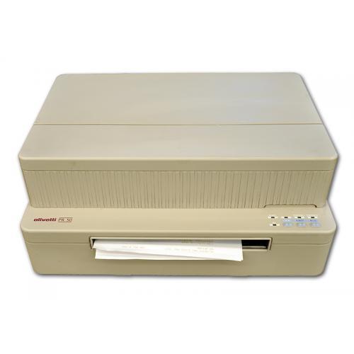 Olivetti PR50 Tecnología: Matricial. Velocidad: hasta 6 lineas/seg. Ancho Papel: 245 mm. Copias: Original + 4 copias. Conectivid