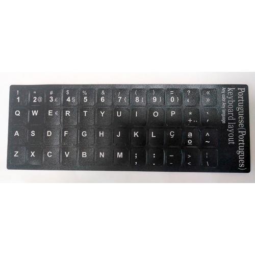 Para Portugués Negras Pegatinas universales para Conversión de teclado Internacional a Portugués. Compatible con la mayoría de l
