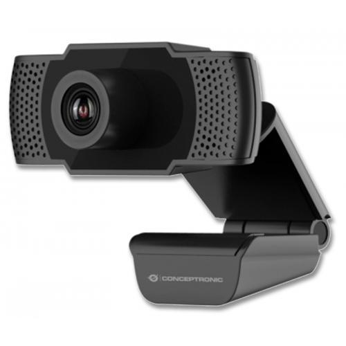 CONCEPTRONIC AMDIS FHDWebCam Full HD - Hasta 1920 x 1080 pixeles - Hasta 2.0 Megapixeles - 30fps - f=3,6mm - Micrófono Integ
