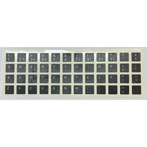 Para HP/DELL Portugués Pegatinas universales para Conversión de teclado Internacional a Portugués. Diseño de etiqueta específico
