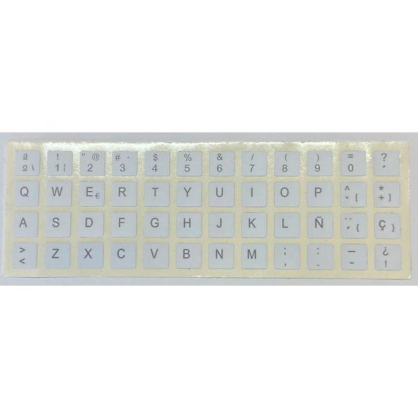 Para APPLE Español Blancas Pegatinas universales para Conversión de teclado Internacional a Castellano. Diseño de etiqueta espec