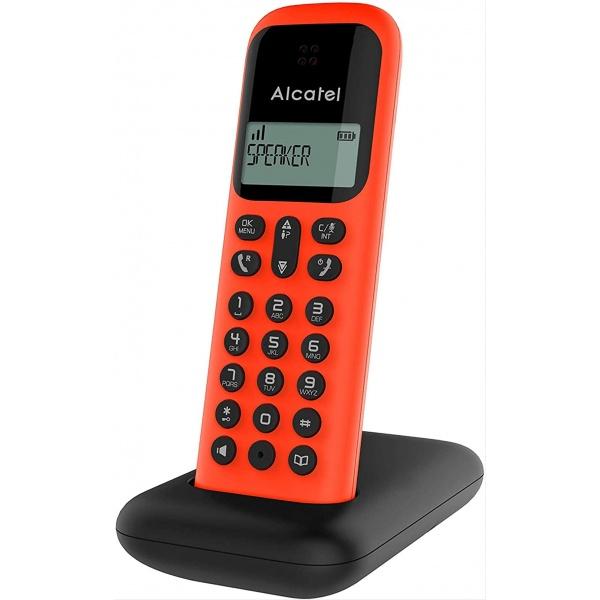 TELEFONO INALAMBRICO ALCATEL D285 NEGRO/ROJO