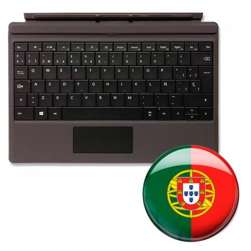 Teclado Surface Pro Portugués Funda/Teclado para MICROSOFT Surface Pro Negra - Válido para Surface Pro 3/4/5/6/7 - Idioma: Portu