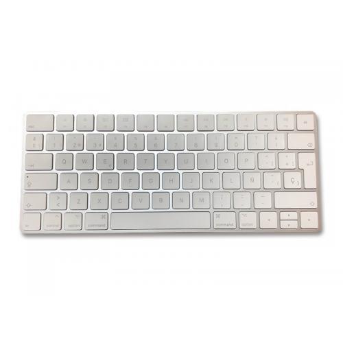 Apple Magic Keyboard Teclado Inalámbrico APPLE Magic Keyboard 2 - Tipo: Teclas Bajo Perfil - Conexión: Bluetooth - Alimentación: