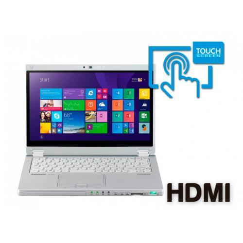 Panasonic Toughbook CF-MX4 Intel Core i5 5300u 2.3 GHz. · 8 Gb. SO-DDR3 RAM · 256 Gb. SSD M2 · Teclado internacional con pegatin