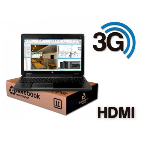 HP ZBook 15 G3 WorkStation Intel Core i7 6820HQ 2.7 GHz. · 32 Gb. SO-DDR4 RAM · 512 Gb. SSD M2 · Teclado internacional con pegat