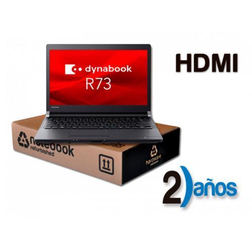 Toshiba DynaBook R73 Intel Core i7 6600U 2.4 GHz. · 8 Gb. SO-DDR3 RAM · 256 Gb. SSD · Windows 10 Pro · Led 13.3 '' HD 16:9 · R