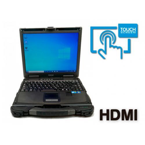 Getac B300-X Intel Core i7 4600M 2.9 GHz. · 8 Gb. SO-DDR3 RAM · 240 Gb. SSD · DVD-RW · Teclado internacional con pegatinas en Ca