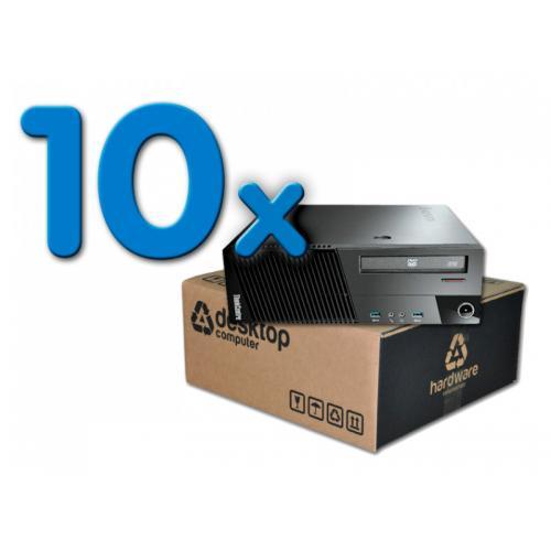 Lenovo ThinkCentre M93P Pack 10 Pack 10 Unidades: Intel Core i5 4570 3.2 GHz. · 8 Gb. DDR3 RAM · 500 Gb. SATA · DVD-RW · Windows