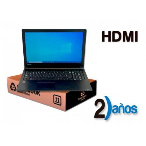 Toshiba Dynabook Satellite B65 Intel Core i7 5500U 2.4 GHz. · 8 Gb. SO-DDR3 RAM · 256 Gb. SSD · DVD · Windows 10 Pro · LCD 15.6