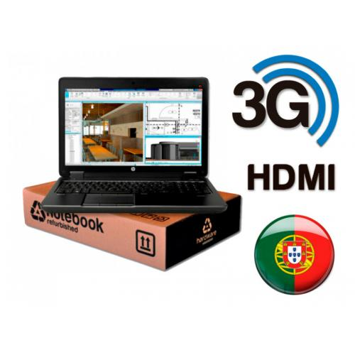 HP ZBook 15 G3 WorkStation Intel Core i7 6820HQ 2.7 GHz. · 16 Gb. SO-DDR4 RAM · 512 Gb. SSD M2 · Windows 10 Pro (Portuguese) · L