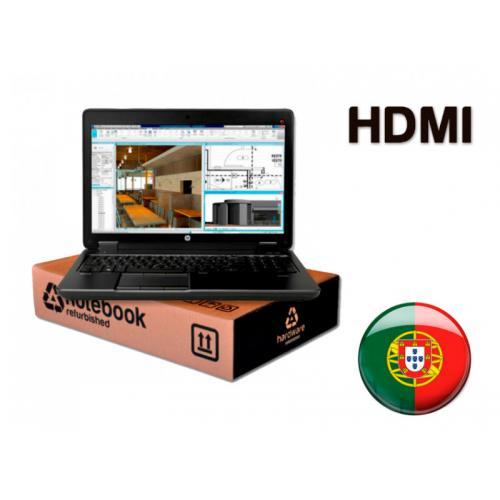 HP ZBook 15 G3 WorkStation Intel Core i7 6820HQ 2.7 GHz. · 16 Gb. SO-DDR4 RAM · 256 Gb. SSD M2 · Windows 10 Pro (Portuguese) · L