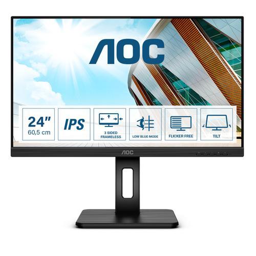"AOC P2 24P2Q LED display 60,5 cm (23.8"") 1920 x 1080 Pixeles Full HD Negro - Imagen 1"