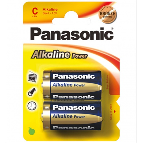 PILA PANASONIC LR14 ALKALINE 2 UNIDADES