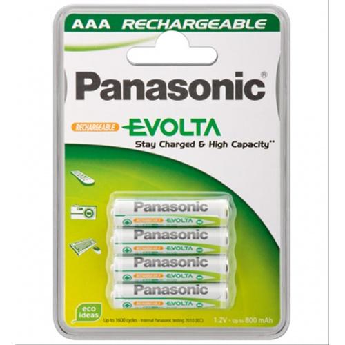 PILA PANASONIC AAA ALKALINE 1.2V 4 UNIDADES RECARGABLE