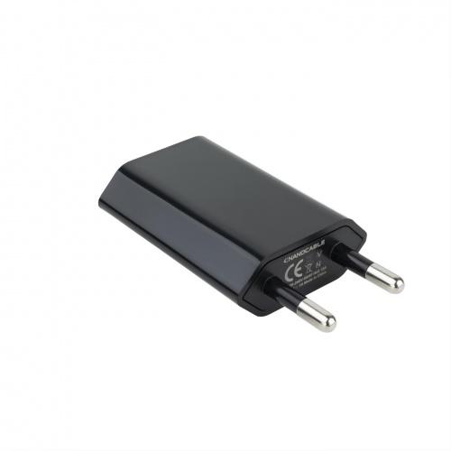 CARGADOR USB MINI 5V/1A NEGRO NANOCABLE