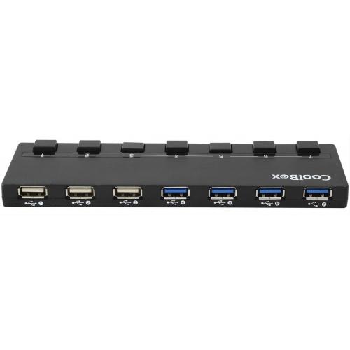 HUB 7 PUERTOS USB 3.0/2.0 COOLBOX + MULTICARGADOR DE PARED
