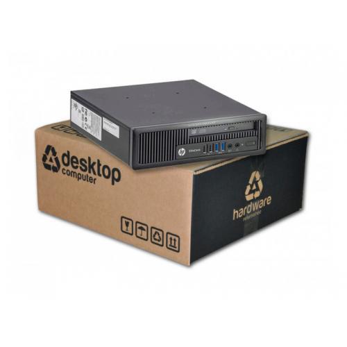HP EliteDesk 800 G1 USDT Barebone Intel Core i5 4670S 3.1 GHz. · 8 Gb. SO-DDR3 RAM · - Sin disco - · DVD · Windows 7 Pro · Bareb