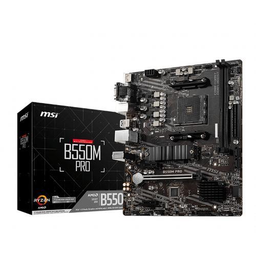 MSI B550M PRO placa base AMD B550 Zócalo AM4 micro ATX
