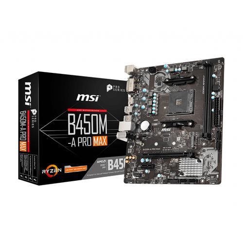 MSI B450M-A PRO MAX placa base AMD B450 Zócalo AM4 micro ATX