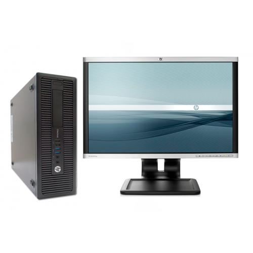 HP ProDesk 600 G1 + TFT 24Intel Core i5 4570 3.2 GHz. · 8 Gb. DDR3 RAM · 500 Gb. SATA · DVD · Windows 7 Pro · Monitor TFT 24