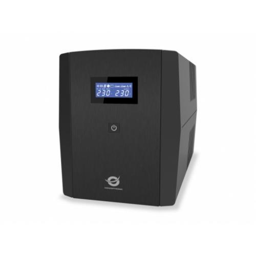 Conceptronic ZEUS03E sistema de alimentación ininterrumpida (UPS) Línea interactiva 1,2 kVA 720 W 6 salidas AC - Imagen 1