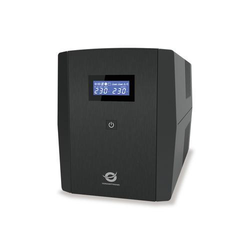 Conceptronic ZEUS03EM sistema de alimentación ininterrumpida (UPS) Línea interactiva 1,2 kVA 720 W 5 salidas AC - Imagen 1
