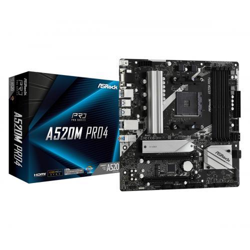 A520M Pro4 Zócalo AM4 micro ATX - Imagen 1