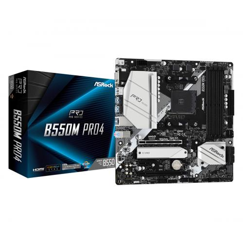 B550M Pro4 AMD B550 Zócalo AM4 micro ATX - Imagen 1
