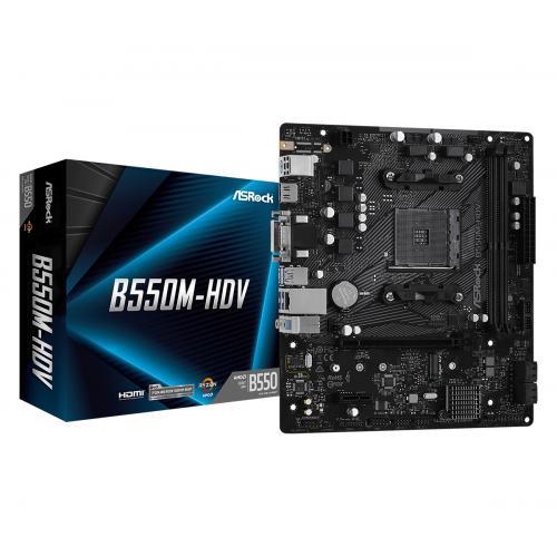 B550M-HDV AMD B550 Zócalo AM4 micro ATX - Imagen 1