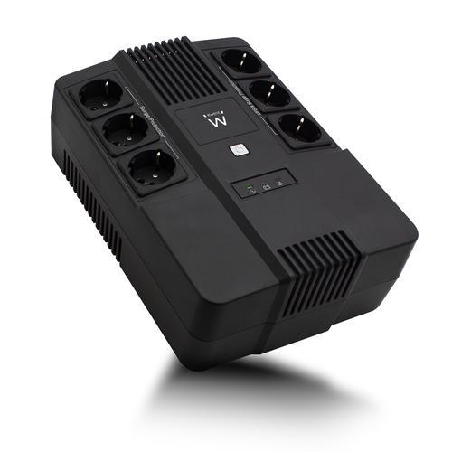 Ewent EW3945 sistema de alimentación ininterrumpida (UPS) Línea interactiva 600 VA 360 W 1 salidas AC - Imagen 1