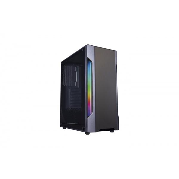 CAJA GAMING COOLBOX DEEP GAMING DGC195 ATX RGB CRISTAL TEMPLADO USB3.0