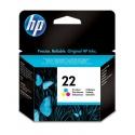 HP INC HP INK CART 22/3C SMALL 5ML 1PK·