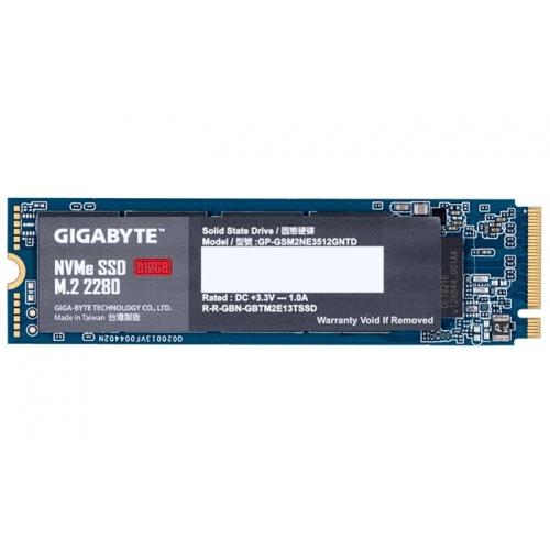 SSD GIGABYTE 512GB NVME M.2 PCIE X2 1700 MB/S 1550MB/S