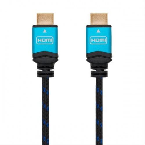 CABLE HDMI V2.0 4K 60HZ 18GBPS, AM-AM, NEGRO 3M NANOCABLE