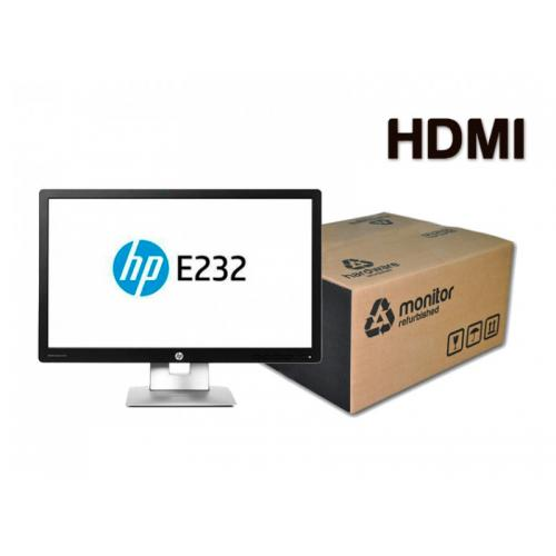HP EliteDisplay E232 Led 23 '' FullHD 16:9 · Resolución 1920x1080 · Dot pitch 0.265 mm · Respuesta 7 ms · Contraste 1000:1 · B