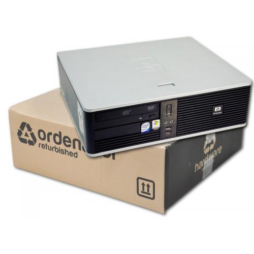 HP DC5700 SFF Intel Pentium Dual Core E2160 1.8 GHz. · 2 Gb. DDR2 RAM · 80 Gb. SATA · DVD · Ubuntu GNU/Linux