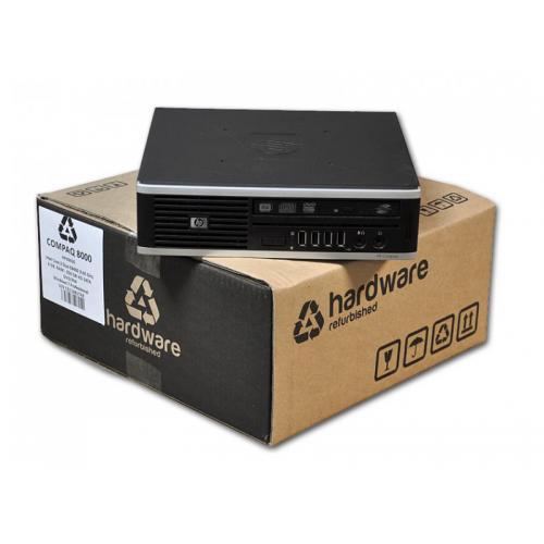 HP 8000 Elite USDT Intel Core 2 Duo E8500 3.16 GHz. · 4 Gb. SO-DDR3 RAM · 250 Gb. SATA · DVD-RW · Windows 7 Pro