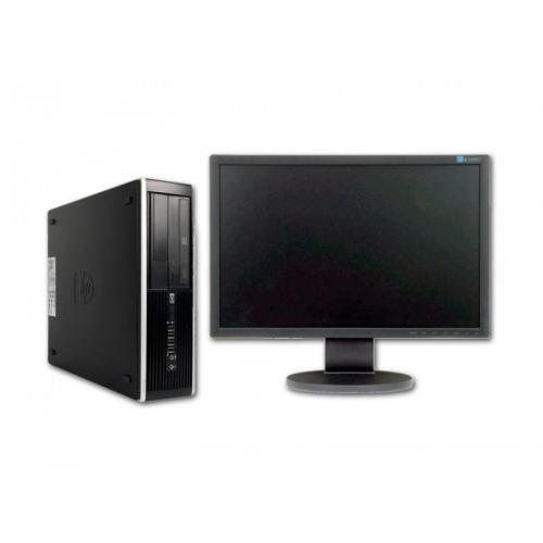 "HP 6200 Pro SFF + TFT 19,5"" Intel Core i3 2100 3.1 GHz. · 4 Gb. DDR3 RAM · 250 Gb. SATA · DVD · Windows 7 Pro · Monitor TFT 19,"