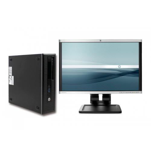 "HP EliteDesk 800 G1 + TFT 24"" Intel Core i5 4590 3.3 GHz. · 8 Gb. DDR3 RAM · 500 Gb. SATA · DVD-RW · Windows 7 Pro · Monitor TFT"