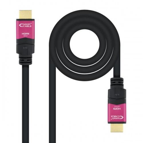 CABLE HDMI V2.0 4K 60HZ ALTA VELOCIDAD/HEC REPETIDOR A/A-A/M 15M NANOCABLE