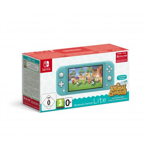 """Switch Lite (Turquoise) Animal Crossing: New Horizons Pack + NSO 3 months (Limited) videoconsola portátil 14 cm (5.5"""") 32 GB Pan"""