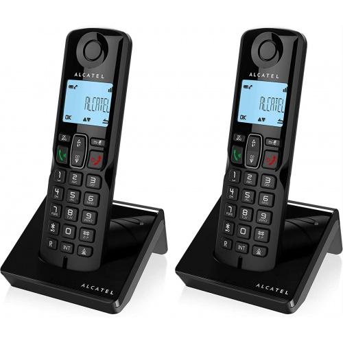 TELEFONO INALAMBRICO ALCATEL S250 DUO NEGRO·